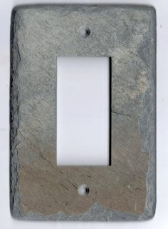 Recycled Slate Switchplate Switch Plate Decora Rocker GFCI Stone Light Wall Cover Reclaimed Salvaged Antique Slate