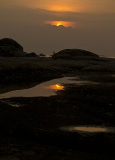 reflection sunset by Tanto Prihanto  www.belitungindonesia.com Belitung, Reflection, Celestial, Island, Sunset, Outdoor, Sunsets, Outdoors, The Great Outdoors
