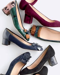 Crew women's Made-in-Italy heels. One pair in each color pls! Pretty Shoes, Beautiful Shoes, Cute Shoes, Me Too Shoes, Shoe Boots, Shoes Sandals, Clutch, Pumps, Dream Shoes
