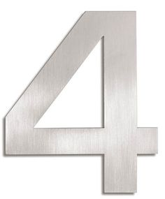 Share and get a 10% off coupon code! House Number Signs: Modern House Numbers  - 4   Available from NOVA68.com Modern Design