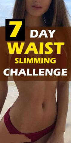 Every lady wants an hourglass figure, but are you up for the challenge? Get a slim waist + Workout challenge. Skinny rules for women to get a flat tummy. Slim Waist Workout, Belly Fat Workout, Small Waist Workout, Mommy Tummy Workout, Skinny Girl Workout, 7 Workout, Workout Challenge, Workout Plans, 7 Day Ab Challenge