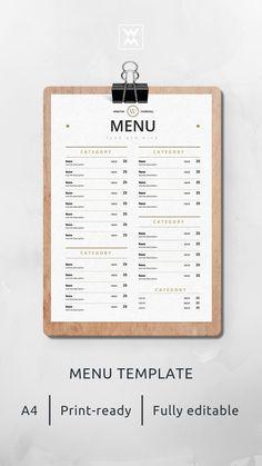 Print-ready menu template | Шаблон меню, готовый к печати Drink Menu Design, Cafe Menu Design, Cafe Shop Design, Menu Restaurant, Bar Menu, Restaurant Identity, Speisenkarten Designs, Cafeteria Menu, Coffee Shop Aesthetic