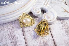 Ohrclips - ✼ Golden Lady ✼ Ohrclips - ein Designerstück von LiAnn-Versand bei DaWanda