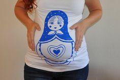 Maternity tshirt, Matryoshka Doll, Nesting Doll, Russian Doll Maternity shirt, Baby Shower maternity tank top, pregnancy announcement