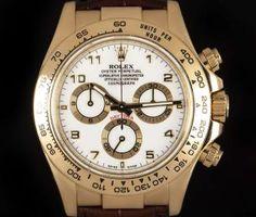 Rolex Cosmograph Daytona Gents Yellow Gold White Dial B&P 116518 Rolex Cosmograph Daytona, Rolex Daytona, Rolex Submariner, Used Rolex, Patek Philippe, Chronograph, Rolex Watches, Accessories, Yellow