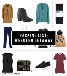 Weekend Getaway Packing List: The Only 12 Things You Really Need!