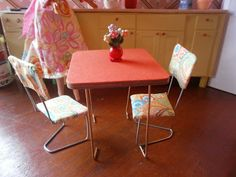 DIY Barbie Furniture- Table and chairs