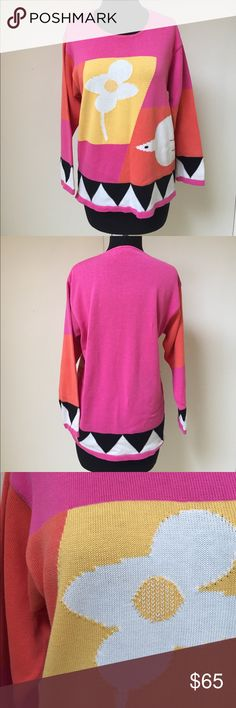 Vintage Rodier Sweater Very vibrant. Perfect for summer. Make an offer! Rodier Sweaters