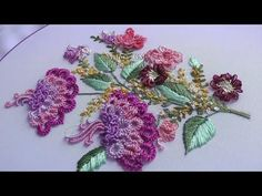 БРАЗИЛЬСКАЯ ВЫШИВКА \   BRAZILIAN EMBROIDERY Ruffle ButtonHole stitch - YouTube