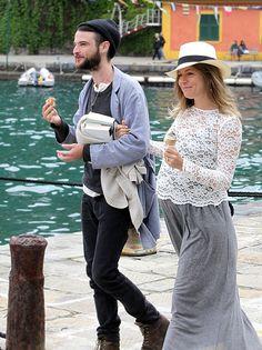 Sienna Miller with boyfriend Tom Sturridge in Portofino, Italy on May 6,2012