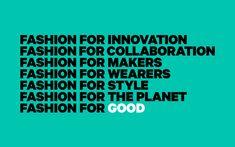 Fashion for Good — Pentagram
