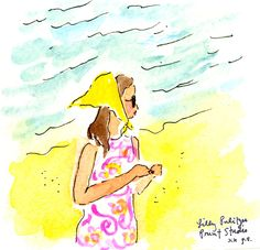 """Anything is possible with sunshine and a little pink."" - Lilly Pulitzer #lilly5x5"