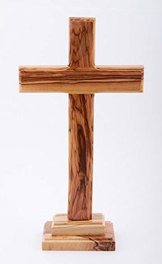 Christian Cross with Base Jerusalem Wood - Zuluf Confirmation Gifts, Baptism Gifts, St Joseph Catholic, Wooden Crosses, First Communion Gifts, Funeral Flowers, Christian Gifts, Crucifix, Projects To Try