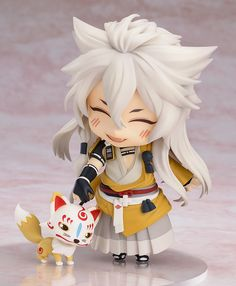 Goodsmile.info - Nendoroid Kogitsunemaru (Touken Ranbu -ONLINE-) my wonderful partner managed to snag the last preorder of him for me last night! So excite <3