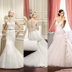 Our editor's top #wedding dress picks from Moonlight Collection Fall 2014.  #bridal #editorspicks #weddingdresses