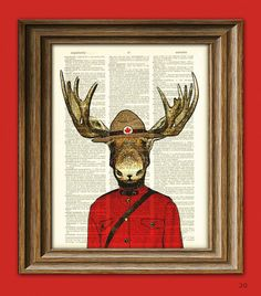 .:* L -  How cute!! Pay homage to moose and the Mounties with this excellent print. | 18 Crafty Ways To Show Your Love For Canada