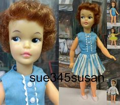 Vintage Ideal Tammy Pepper Doll Auburn Hair plus Clothes Lot