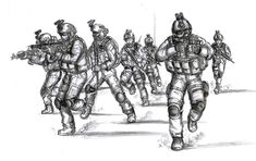 This piece is dedicated to all the men and women who serve in the US military. It was created to raise money for the Live Art-Auction @ DCC to Benefit W. Cool Drawings, Pencil Drawings, Story Drawing, Drawing Ideas, Character Art, Character Design, Military Art, Military Soldier, Military Drawings
