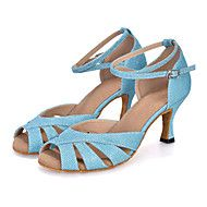 Customizable+Women's+Dance+Shoes+Latin+Leatherette+Flared+Heel+–+AUD+$+126.78