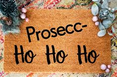 Christmas Doormat, Christmas Gifts, Heavy Rubber, Coir Doormat, Prosecco, Flocking, Make And Sell, Gift For Lover, Doormats