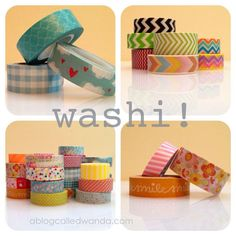 Several cute washi tape cards