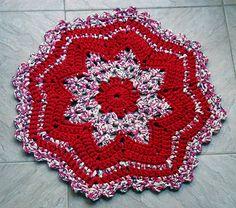 Tapete de Crochet com Fio de Malha ou Trapilhos (Crochet Rag Rug