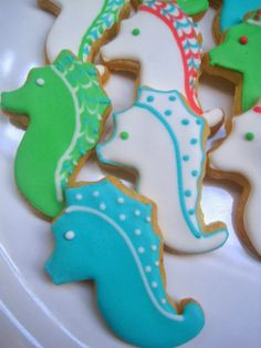 seahorse sugar cookies - The Blue Cottage, Tagaytay