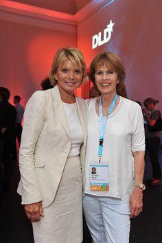 Stiftungs-Vorstand Christa Maar und Schauspielerin Uschi Glas - brotZeit e.V. - auf dem DLDwoman 2014