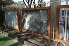 Activity Boards to screen a carpark and make use of a fence. Designed by Garden Insight Activity Board, Play Spaces, Fence, Boards, Activities, Garden, Insight, Projects, Room