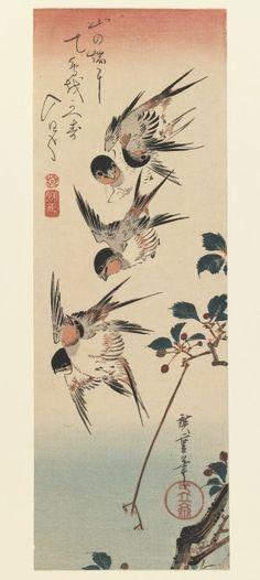 Four Swallows, 1832Hiroshige - by style - Ukiyo-e