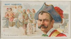 Bart Roberts, Trying Deserters, from the Pirates of the Spanish Main series (N19) for Allen & Ginter Cigarettes