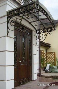 Awnings shoes in Tashkent, Uzbekistan When early with notion, the particular pergola has become encountering Canopy Frame, Awning Canopy, Door Canopy, Patio Canopy, Front Door Design, Pergola With Roof, Grill Design, Iron Decor, Home Decor Furniture