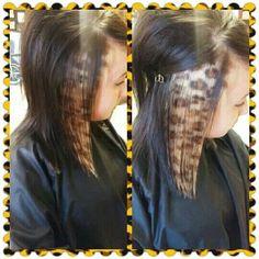 Cheetah print hair by Britnee Nesbitt