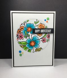 Fresh Flowers #2: Christine Adolf, floral sketch, by beesmom - at Splitcoaststampers