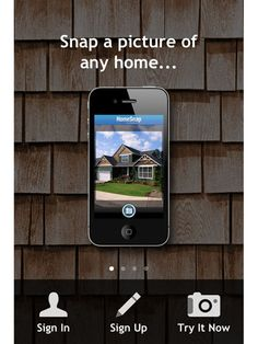 Home Snap: Ever wonder how much a house you saw on the street is really worth? Take a photo of a home and the app will tell you how much it's worth.