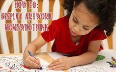 How to Display Kids Art