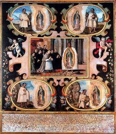 """Relato aparición Virgen de Guadalupe a San Juan Diego Cuauhtlatoatzin""""  5 Abril 1474 Cuautitlán - 30 mayo 1548 Ciudad de México. Festividad9 de diciembre."""