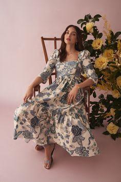Boho Dress, Silk Dress, Poplin Dress, Party Wear, Party Dress, Casual Dresses, Fashion Dresses, Pretty Outfits, Retro
