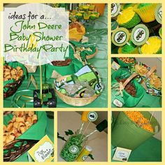John Deere Baby Shower Decor and Food Ideas.  Would make a cute Birthday Party theme too!
