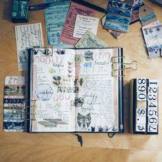 Journal spread #creativejournaling #midoritravelersnotebook