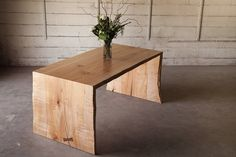 """Maple Waterfall Desk. With dimensions of ~ 66"""" x 30"""" x 30"""" (L x W x H) this desk is the perfect addition to your home or work office. The waterfall edges are structurally sound and are made for a lifetime of use. Sanded edges provide soft flowing lines, while preserving the natural edge of the tree. **SHIPPING** This listing does not include the price of shipping. Please contact our shop with your location for a shipping quote. Items 4' and below may ship via ground shipping. All tables…"""