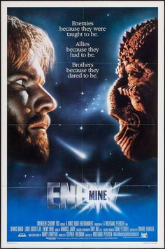 Enemy Mine Century Fox, One Sheet X Science Fiction. Starring Dennis Quaid, - Available at Sunday Internet Movie Poster. 80s Movies, Great Movies, Love Movie, Movie Tv, 20th Century Fox, Film Science Fiction, Fiction Movies, Cinema Posters, Movie Posters