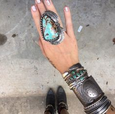 awesome silver and turquoise jewelry