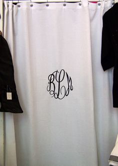 Love this monogrammed shower curtain!