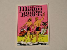 80s Vending Sticker Miami Beach travel tourist by JaybrrdsWhatnots