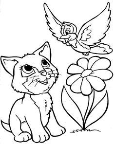Cat Coloring Sheets -   cat,\'s pic   Pinterest   Cat colors, Cat and ...