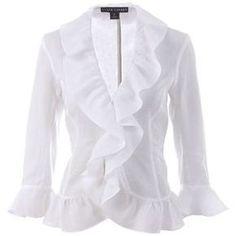 Camisas Femininas com Babados   Moda - Cultura Mix Diva Fashion, Fashion Days, Fashion Wear, Autumn Fashion, Fashion Dresses, Womens Fashion, Fashion Design, Moda Chic, Clothes Crafts