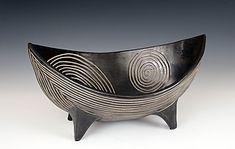 """Spirals Viking Bowl""  Ceramic Bowl    Created by Larry Halvorse"