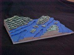 como hacer relieves con carton DIY