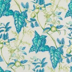 Bailey & Griffin PUCCINI BLUE/GREEN Fabric